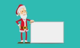 Нося костюм Санта Клауса иллюстрация штока