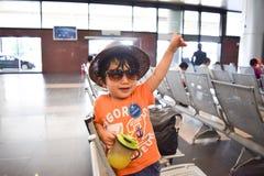нося мальчик шляпы который милый японский ребенк Стоковая Фотография RF