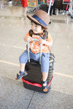 нося мальчик шляпы который милый японский ребенк Стоковое фото RF