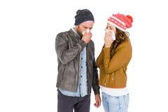 Нос больных молодых пар дуя Стоковые Фото