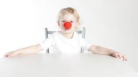 нос девушки клоуна Стоковое фото RF
