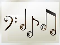 нотация авторского права музыкальная Стоковое Изображение