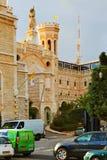 Нотр-Дам больницы француза Сент-Луис центра Иерусалима Стоковое Изображение