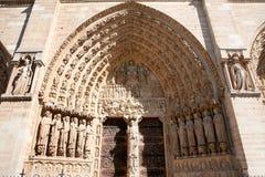 Нотр-Дам de Париж, самый известный собор Стоковое Фото