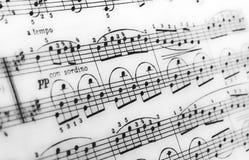Ноты, книги музыки, музыка на бумаге Стоковое Фото