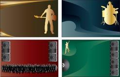 нот визитных карточек Бесплатная Иллюстрация