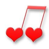нот влюбленности Стоковые Фотографии RF