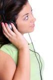 нот девушки слушая к Стоковые Фото