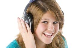 нот девушки слушая подростковое к Стоковое Изображение RF