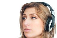 нот девушки слушая Стоковые Изображения RF