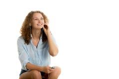 нот девушки слушая к Стоковое фото RF