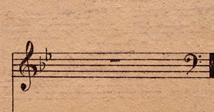 нот замечает старый бумажный лист Стоковое фото RF