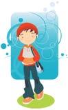 нот мальчика слушая к Стоковое Изображение RF