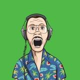нот наушников вентилятора screaming бесплатная иллюстрация