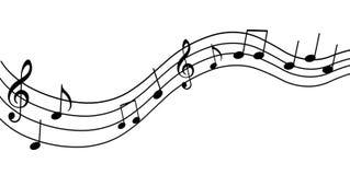 нот предпосылки в стиле фанк Иллюстрация вектора примечаний музыки Стоковая Фотография RF
