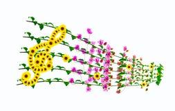 нот предпосылки флористическое Стоковые Фотографии RF