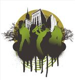 нот согласия города иллюстрация штока
