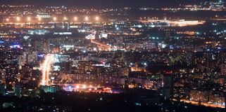Ноча ââat города Стоковое Фото