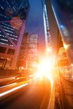 ноча автомобилей быстроподвижная Стоковые Фотографии RF
