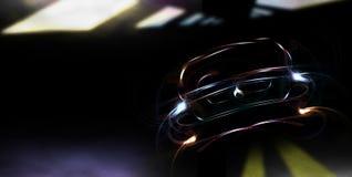 ноча автомобиля Стоковая Фотография