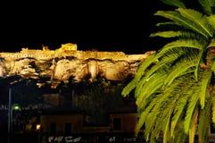 ноча акрополя Стоковое Изображение RF