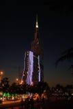 Ноча Батуми набережной в центре города Стоковое Изображение RF