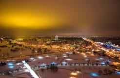 ноча Беларуси прописная minsk Стоковые Фотографии RF