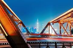 Ноча бунда Шанхая стоковая фотография