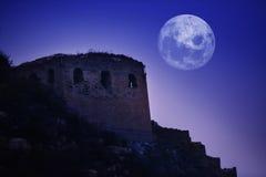 Ноча Великой Китайской Стены Стоковое Изображение RF