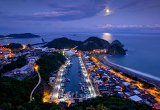 Ноча взморья Тайваня стоковые фотографии rf