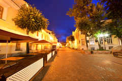ноча вида города стоковые изображения rf