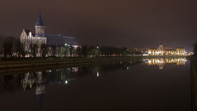ноча вида kanta собора i Стоковое Изображение RF