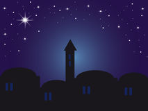 ноча Вифлеема backround Стоковые Фотографии RF