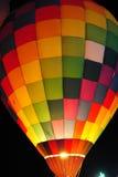 ноча воздушного шара горячая Стоковая Фотография RF