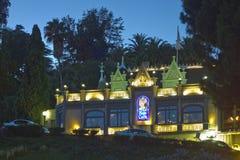 ноча волшебства hollywood замока Стоковые Изображения RF