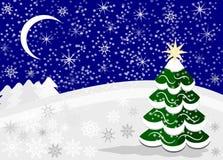 ноча волшебства ландшафта рождества Стоковые Изображения