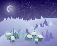 ноча волшебства ландшафта рождества Стоковое Изображение RF