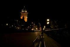 Ноча в Квебеке (город) Стоковое Изображение RF