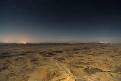 Ноча в перемещении горы пустыни Стоковая Фотография RF