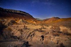 Ноча в пустыне Стоковая Фотография