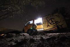 Ноча в пустыне Стоковое Изображение