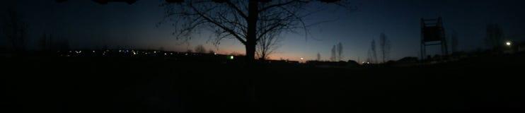Ноча в селе стоковые фото