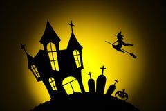 Ноча в торжестве хеллоуина Стоковые Фотографии RF