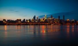Ноча в Чунцине Стоковое Изображение RF