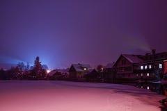 Ноча в январе Стоковая Фотография