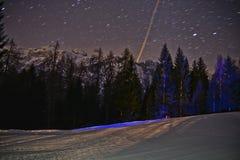 Ноча в Folgarida Стоковые Фото