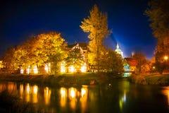 Ноча в Slupsk Стоковая Фотография RF