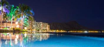 ноча Гавайских островов светлая Стоковая Фотография