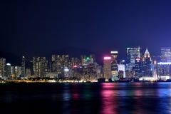 Ноча гавани Гонконга Виктории, 2016 Стоковые Изображения
