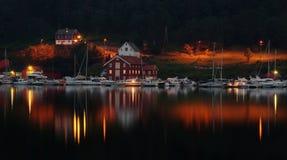 ноча гавани малая Стоковое Фото